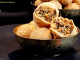 Holi Hai !!! Sukha Mewa Kachori - Deep fried pastry filled with Dry Fruit and Nut