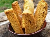 Kesar Mango and Mixed Nuts Eggless Biscotti