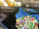 One more joyful moment with sweetcorn & Pumpkin Seeds Salad and a product review - Terra Rosa