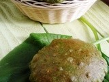 Palak Puri ~ deep fried spinach Indian bread