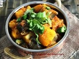Ringna Batata nu Shaak - Eggplant and Potato Curry - Kem Cho