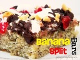 Banana Split Cake Bars