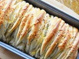 Cheesy Pull Apart Everything Bread