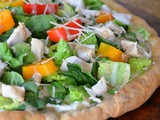 Chicken Cesar Salad Pizza