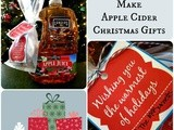 How To Make Homemade Apple Cider Christmas Gifts with Printable Tags