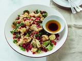 Roasted Cauliflower, Quinoa, and Pomegranate Salad (Cookbook Giveaway)
