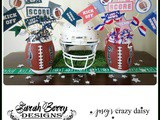 Superbowl Printables and Football Centerpiece Tutorial