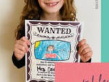 Wanted Teacher Appreciation Posters