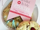 You Are The Milk to My Cookies Valentine with Free Printable