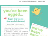 You've Been Egged Easter Activity Printable