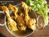 Kancha lonka dhonepata Murgi - Chicken with coriendar leaves and green chilli