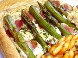 A bit of a failure of an Asparagus Tart - but then, Cheese straws