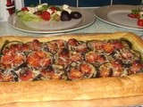 Aubergine and cherry tomato tart