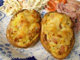 Bacon & Cheddar Twice Baked Potatoes - jackets with knobs on