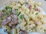 Bacon, pea & mint pasta - an unexpected success