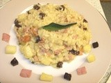 Bramley Apple, Bacon & Black Pudding Risotto - it's Bramley Apple Week