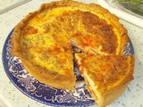 Cheddar & chorizo quiche : a super-tasty surprise