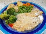 Chicken in a Marsala & mustard cream sauce - as easy as winking