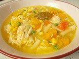 Chicken & vegetable dinner soup - golden gorgeousness