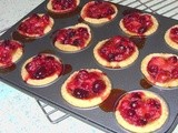 Cranberry & Orange Tartlets (or how to use up a few leftover Cranberries)