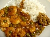 King Prawn Madras Curry - sampling Patak's curry products