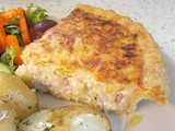 Leek & bacon tart - a quiche-alike