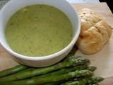 Lunchtime quick soup - Asparagus & Fenugreek