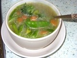Lunchtime soup : Green Vegetable Broth