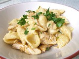Manchego chicken Alfredo - super quick, two pot supper
