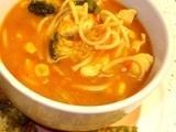 Minestrone?  No!  It's Chickarone Soup