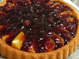 Persimmon & Red Berry Flan - retro loveliness