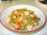 Prawn noodle stir fry - it's a stir fry, with prawns and noodles