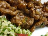 Ras-al-hanout Minced Lamb with Ottolenghi's Green Couscous