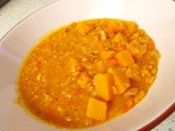 Red lentil, butternut squash & chilli soup