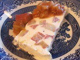 Rhubarb & Mead Semifreddo with compote - such a simple joy