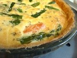 Salmon & Asparagus Quiche - glorious rich indulgence