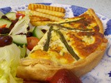 Smoked Haddock & Asparagus Quiche - mellow deliciousness