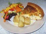 Smoked Haddock & Sweetcorn Tart - superb picnic food