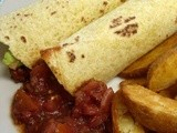 Smoky Pork & Bean Wraps - scrumpalicious