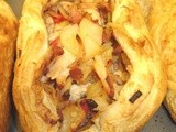Spicy chicken & bacon pasties .. or tarts, in this case