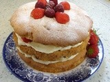 Strawberry & Raspberry Amaretto Gateau for the Jubilee Weekend