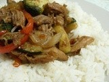 Sweet Chilli Pork Stir Fry - or  how to use the other half of your pulled pork
