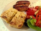 Tonight's dinner : bbq Sausages, cornbread and salad