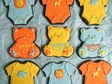 Baby Cookie Tutorials: Onesies and Teddy Bears