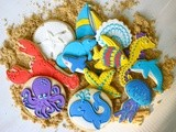 Ocean Themed Decorated Sugar Cookies