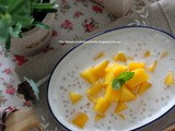 芒果椰汁西米露 Chilled Mango Coconut Sago Dessert