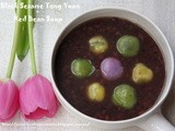 红豆沙芝麻汤圆糖水 Red Bean Soup with Black Sesame
