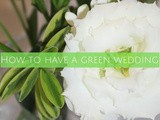 How to have a green wedding
