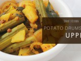 Drumstick Potato Stir fry recipe | Drumstick potato upperi/poriyal