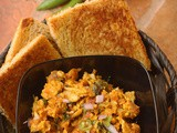 Egg bhurji recipe with boiled eggs | Bread toast and bhurji